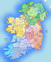 Ireland regions (Credit: Andrein own work, CC By SA 3.0, Wikimedia.org)