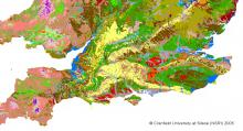 Soils map (c) National Soil Resources Institute / Cranfield University